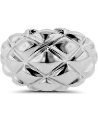 Liberty - Sterling Silver Quilted Ring - Lyst
