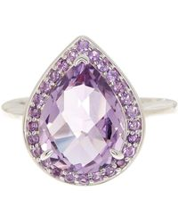 Liberty - Sterling Silver Rose De France & Amethyst Ring - Lyst