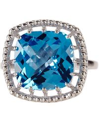 Liberty - Sterling Silver Swiss Blue Topaz Ring - Lyst