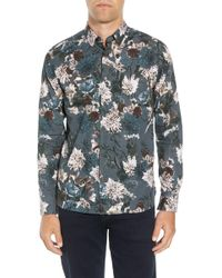 2d14517af11e Lyst - Ted Baker Munkee Extra Slim Fit Diamond Print Sport Shirt in ...