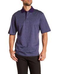 Bugatchi - Striped Mercerized Polo Shirt - Lyst