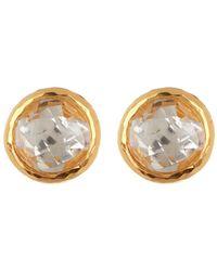 Gurhan - 24k Gold Vermeil White Topaz Stud Earrings - Lyst