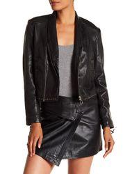 Liebeskind Berlin - Draped Lapel Leather Jacket - Lyst