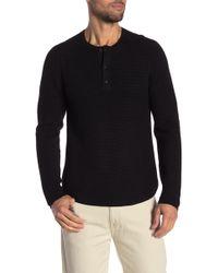 Michael Bastian - Textured Henley Sweater - Lyst