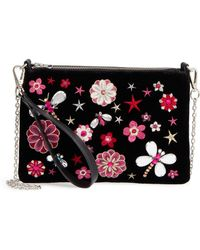 Chelsea28 - Embellished Faux Leather Clutch - None - Lyst