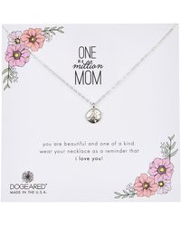 Dogeared - One In A Million Mom Sand Dollar Charm Necklace - Lyst