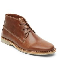 Kenneth Cole Reaction - Topstitched Leather Chukka Boot - Lyst