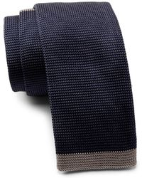 BOSS - Silk Knitted Square Tie - Lyst