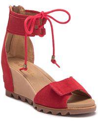 Sorel - Joanie Cuff Wedge Sandal - Lyst