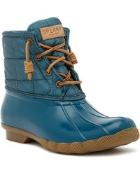 Sperry Top-Sider - Saltwater Waterproof Shiny Quilted Boot - Lyst
