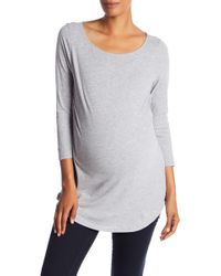 Lamade - 3/4 Sleeve Scoop Neck Tee (maternity) - Lyst