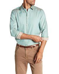 Scotch & Soda - Stripe Long Sleeve Regular Fit Shirt - Lyst