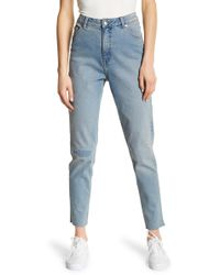 Cheap Monday   Donna Distressed High Rise Ankle Jeans   Lyst