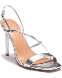 Halston - Strappy Leather Sandal - Lyst