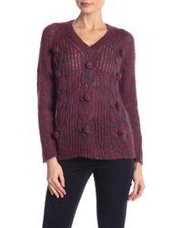 Anna Sui - Mohair Melange V-neck Sweater - Lyst