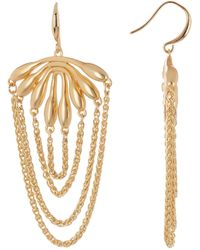 Trina Turk - Botanicals Flower Burst Chain Dangle Earrings - Lyst