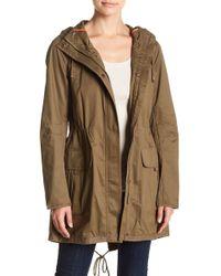 Kensie - Coated Hooded Jacket - Lyst