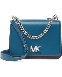 8fba9f1a3e3c Lyst - MICHAEL Michael Kors Women s Mott Mini Pebbled Leather ...