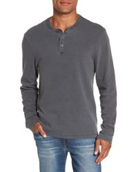 James Perse - Long Sleeve Henley T-shirt - Lyst