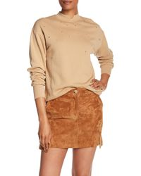 Helmut Lang - Distressed Cutout Crew Neck Sweater - Lyst