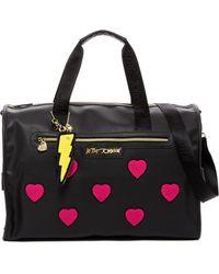 Betsey Johnson   Collegiate Heart Weekend Bag   Lyst