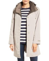Gallery - Two-tone Silk Look A-line Raincoat - Lyst