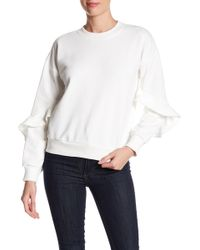 Lucca Couture | Alice Ruffle Sleeve Sweatshirt | Lyst