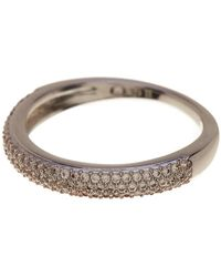 Nadri - Pave Cz Thin Band Ring- Size 8 - Lyst