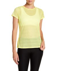 Warrior by Danica Patrick Active | Sheer Back Cutout Tee | Lyst