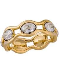 Swarovski - Gold Plated Crystal Ring - Size 7.25 - Lyst