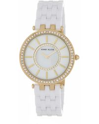 Anne Klein - Women's Swarovski Crystal Embellished Bracelet Watch, 34mm - Lyst