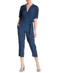 Dress Forum - Printed Wrap Jumpsuit - Lyst