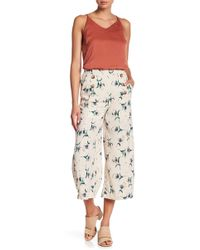 Blu Pepper - Floral Wide Leg Cropped Pants - Lyst