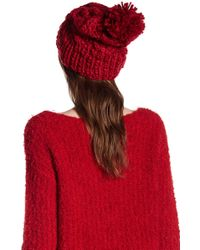 Joe Fresh - Cable Knit Pom Pom Beanie - Lyst