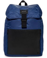 State Bags - Bennett Nylon & Leather Backpack - Lyst
