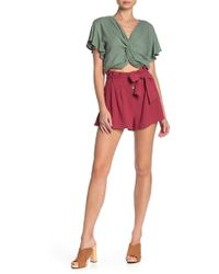 Mustard Seed - Button Up Paper Bag Shorts - Lyst