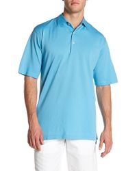Peter Millar - Sean Self Solid Pique Polo - Lyst