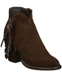 Lucchese - Chocolate Suede Boot - Lyst