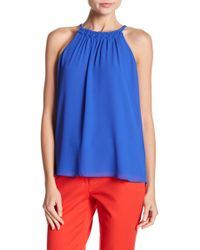 Naked Zebra - Love Actually Sleeveless Capri Blue Blouse - Lyst