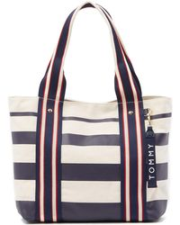 Tommy Hilfiger - Shopper Striped Tote - Lyst