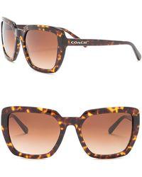 6b59a621fc6a COACH - 57mm Oversize Square Sunglasses - Lyst