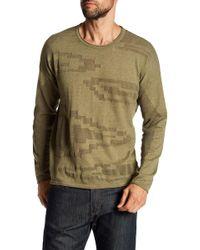 Quinn - Blown Up Muscle Pattern Instarsia Crew Neck Sweater - Lyst
