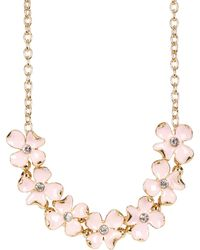Carolee - Statement Floral Frontal Necklace - Lyst