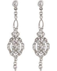 Ben-Amun - Pave Crystal Deco Drop Earrings - Lyst