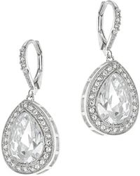 CZ by Kenneth Jay Lane | Pear Cz Pave Borders Classic Earrings | Lyst