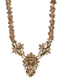Carolee - Big Floral Stone Frontal Beaded Necklace - Lyst