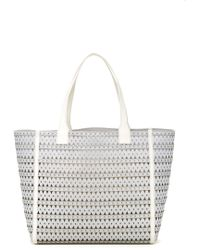 Via Spiga - Vania Bi Color Metallic Leather Tote - Lyst