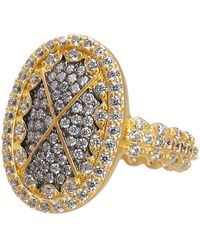 Freida Rothman - Contemporary Deco Cz Embellished Cocktail Ring - Lyst