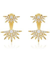 Melinda Maria - Barrie Cz Spkie Jacket Earrings - Lyst