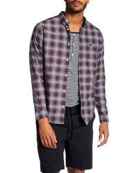 RVCA - That'll Do Hombre Plaid Slim Fit Shirt - Lyst